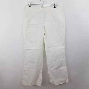 ~ J Crew Chino Pants 8 R City Fit White Work Caree